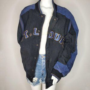NFL Suede Leather St. Louis Rams Bomber Jacket XL